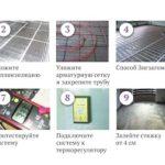 Монтаж теплого электрического пола (инструкция по установке)