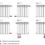 Подключение биметаллических радиаторов отопления: схема при однотрубной системе, боковое подключение